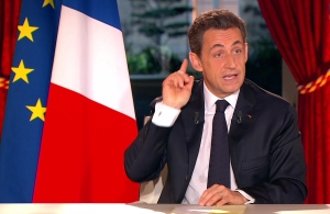 France's president Sarkozy is seen in still image taken from video as he speaks of economic reforms on national TV in Paris