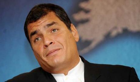 Ecuador President Gives Speech in London