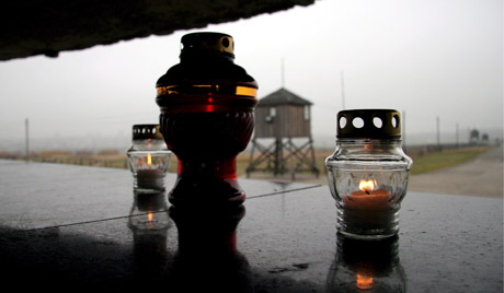 Candles in camp Majdanek