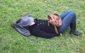 И тази дама на Октобърфест също спи