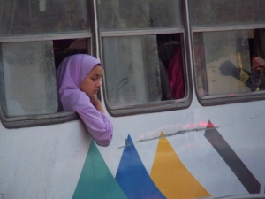 egypt-cairo-woman-on-bus