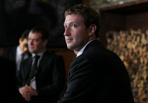 Facebook CEO Zuckerberg meets with Russian Prime Minister Medvedev at the Gorki residence outside Moscow