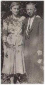 Виктор Хутефф със съпругата си през 1934 г.