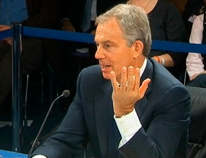A still image from video shows former British Prime Minister Tony Blair speaking at an inquiry into Britain's role in the Iraq War, at the Queen Elizabeth II Conference Centre, in central London
