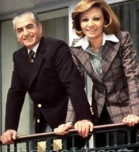 Farah Pahlavi et son mari Mohammed Reza Shah