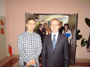Радха-винода дас и македонският външен министър, гн- Милошоски  Асен Генов g