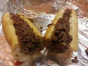 It wouldn't be a trip to Philadelphia without it. The legendary cheese steak 57_n
