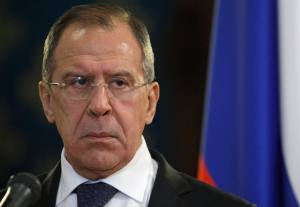 Russia's Foreign Minister Lavrov attends a news conference with his Egyptian counterpart Kamel Amr in Moscow