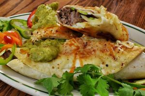 Mmm... beef brisket burritos with peppers, cheeses, and guacamole_n