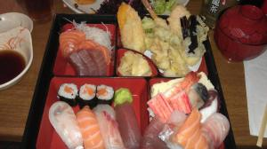 Sushi Bento Box from Eat Tokyo in Trafalgar Square, London. It was only £15!_n