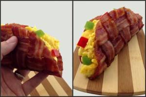 The Bacon Weave Breakfast Taco n