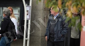 Бившият американски посланик Джеймс Пардю в окупирания Софийски университет 2
