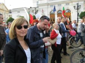 Севда Шишманова от БНТ на протестите