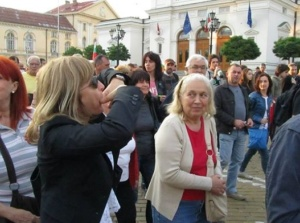 Севда Шишманова от БНТ на протеста
