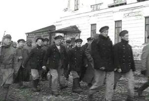Пленени червеноармейци в Архангелск
