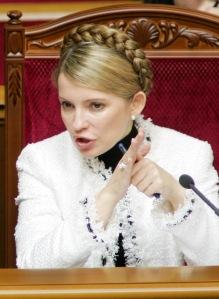Ukrainian Prime Minister Tymoshenko speaks at a parliament session in Kiev.