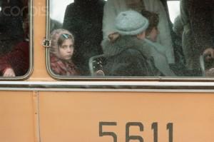 Soviet Girl Riding Bus