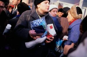 "Shoppers at ""Pushing Market"""