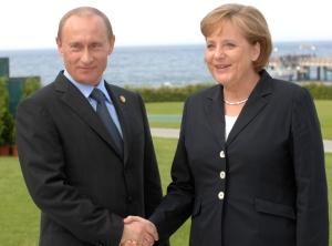 Путин Меркел