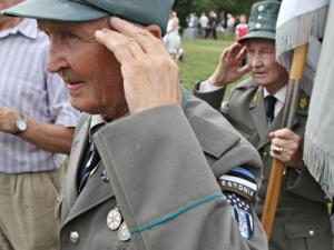 Ежегодна среща на СС ветерани от естонска дивизия
