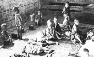 Сръбски деца в концлагер на усташи