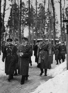 Цар Борис и Богдан Филов на среща с Хитлер