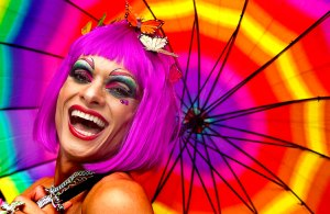 JUNE 10: A reveler participates in a Gay Pride parade in Sao Paulo, Brazil. (Andre Penner/Associated Press)