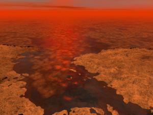 Титан - езера и айсберги
