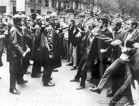 1968 година, Франция, протест