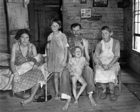 Американски канадски фермери по време на Великата депресия