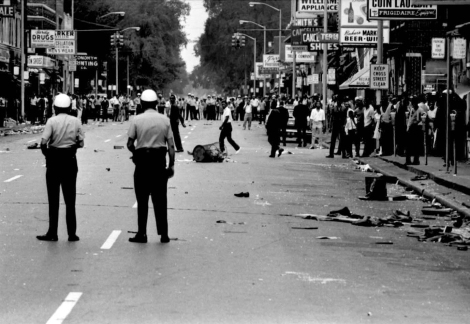 Detroit Race Riots  7.23.1967 12 Street on the first day of the rioting.