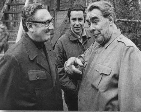 Кисинджър и Брежнев