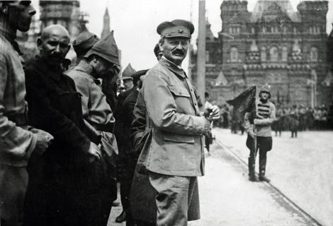 Красная Площадь, Троцкий Лев Давидович 1918 год