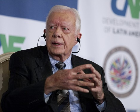 Former President Jimmy Carter speaks at the 16th annual CAF conference, in Washington Monday, Sep. 6, 2012.  (AP Photo/Manuel Balce Ceneta) / SCANPIX