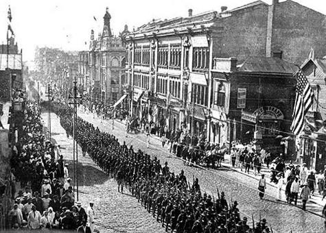 """""""Хуманитарна"""" интервенция във Владивосток, 1918 г."""