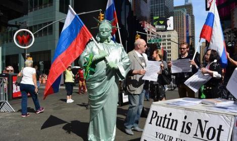 Ню Йорк подкрепя Путин 10