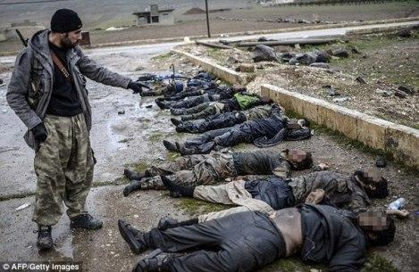 Ликвидирани бойци от Ислямска държава в Сирия