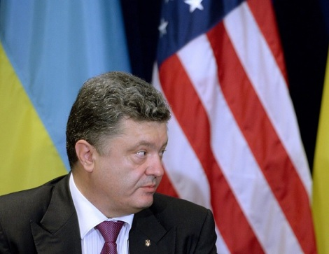 US President Obama meets Ukrainian counterpart Poroshenko
