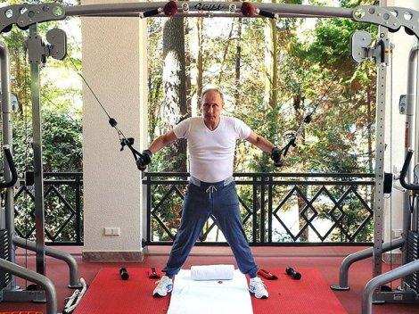 Путин тренировка 2