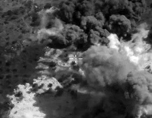 Бомбардировки на Русия в Сирия, около Палмира