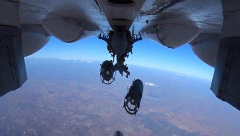 РКС в Сирия, снимка на Министерството на отбраната на Русия