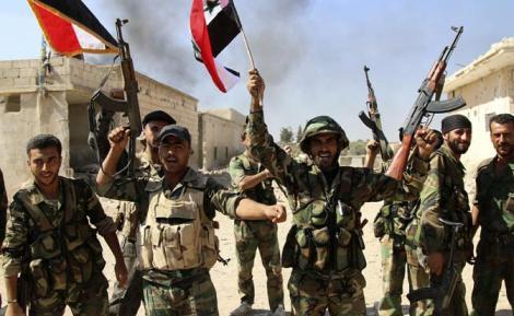 Войници от Сирийската армия в провинция Хама, снимка ТАСС