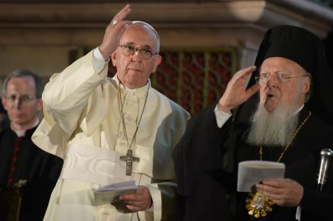 Pope Francis prays at Church of Holy Sepulchre in Jerusalem. Photo: Amos Ben Gershom GPO