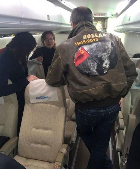 Лавров в руски самолет