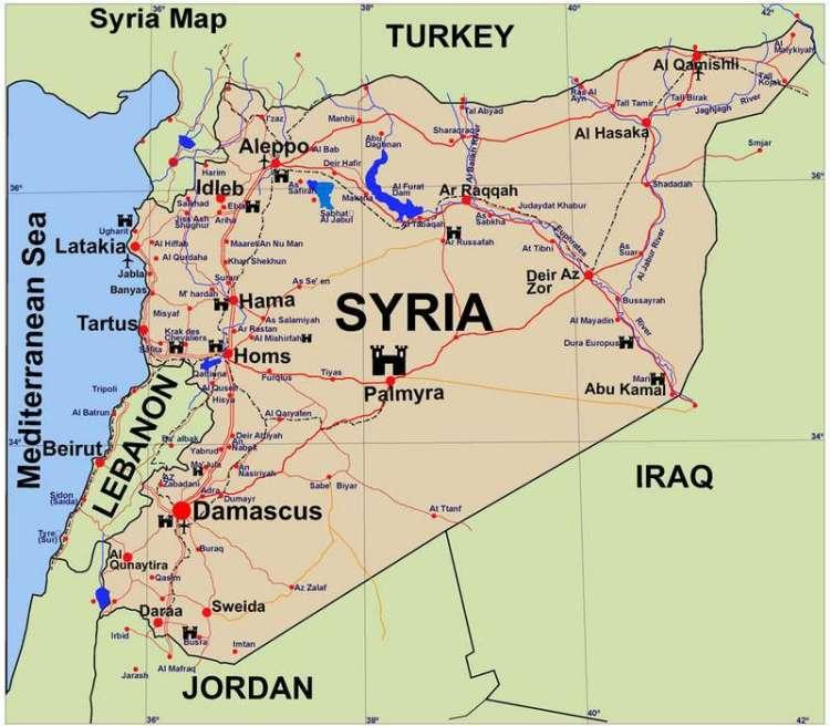 СИрия карта p